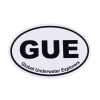 GUE Black & White Decal