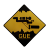 GUE Diver Decal
